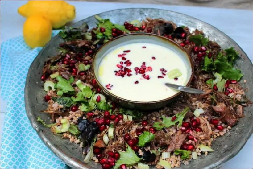 salade de confit de canard tiède