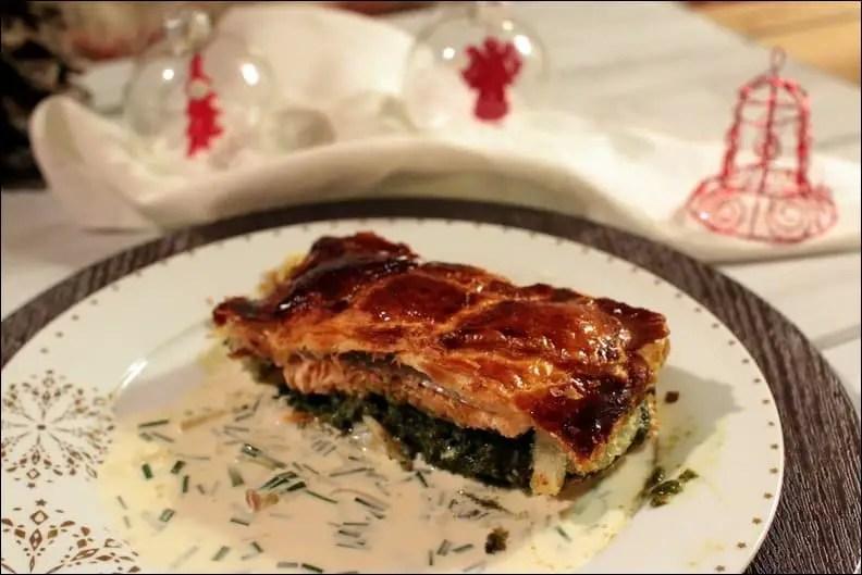 saumon en croute à l'oseille