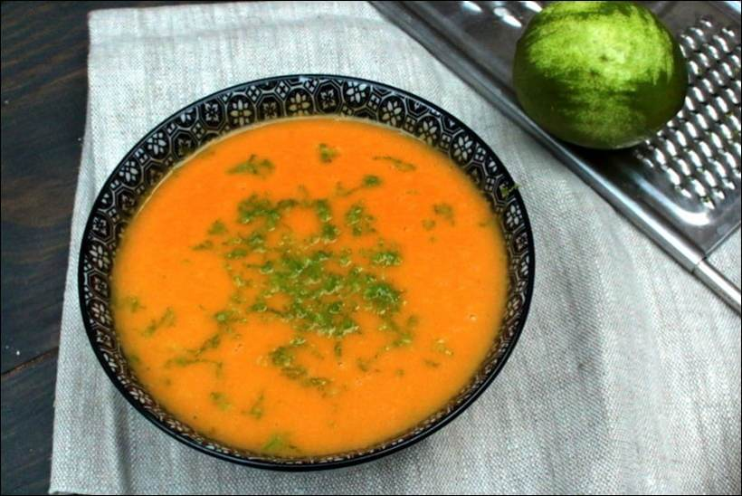 soupe butternut gingembre