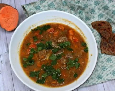 soupe agneau lentilles
