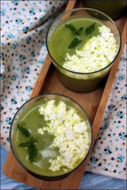 soupe froide courgette feta