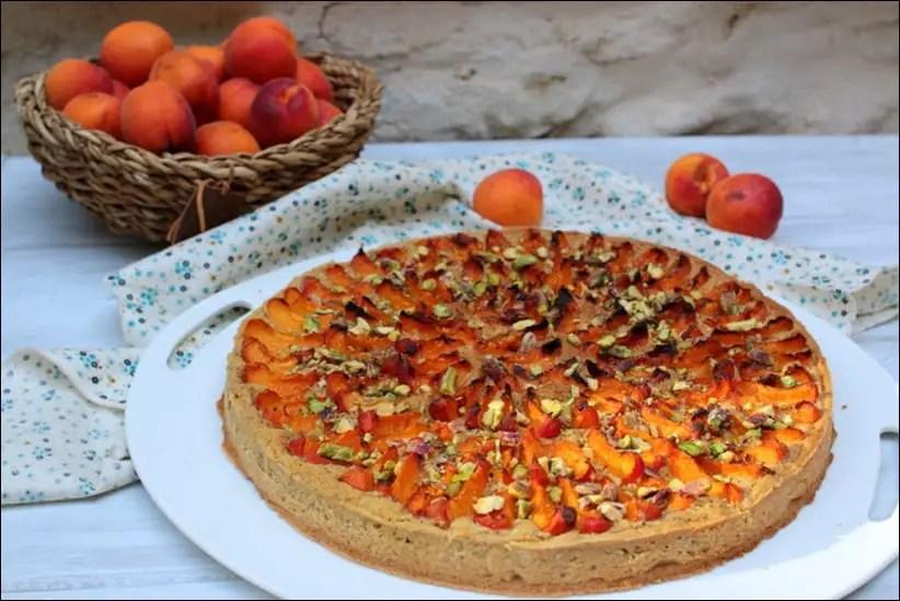 tarte amandine aux abricots pistache