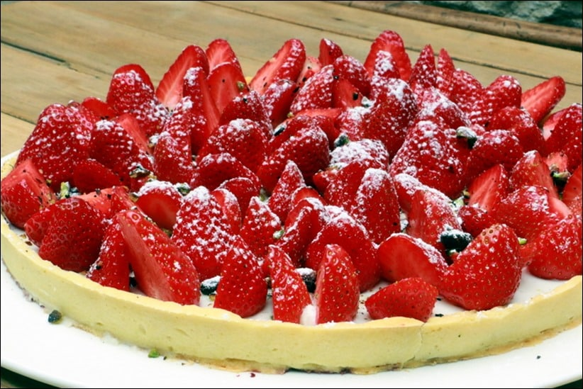 panna cotta coco fraise