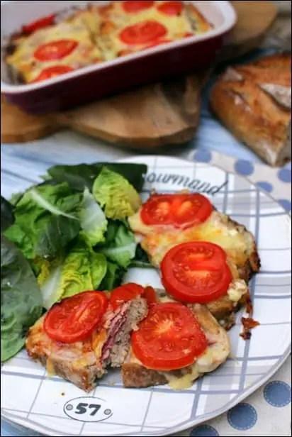 tartines jambon fromage au four