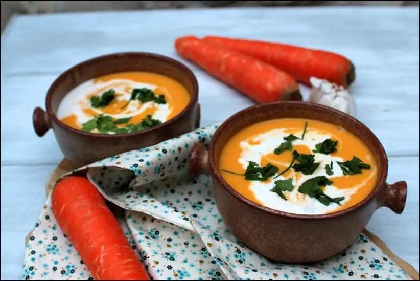 Velouté carotte-coco au gingembre