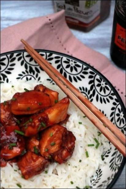 poulet caramel au wok