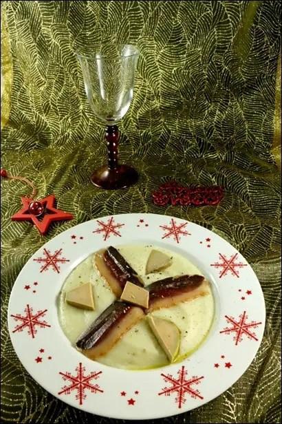 velouté de topinambours au foie gras