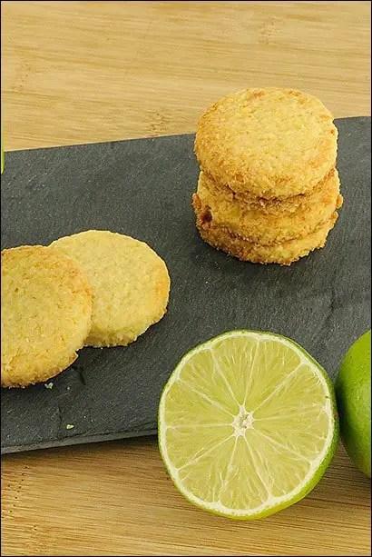 recette sablé coco citron vert