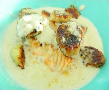 saumon lait de coco gingembre