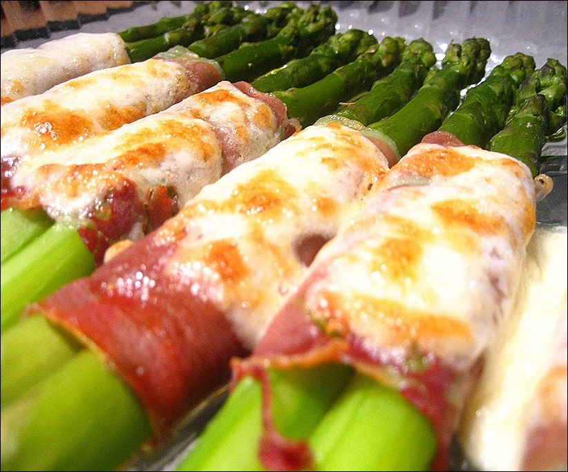 asperge au jambon gratiné