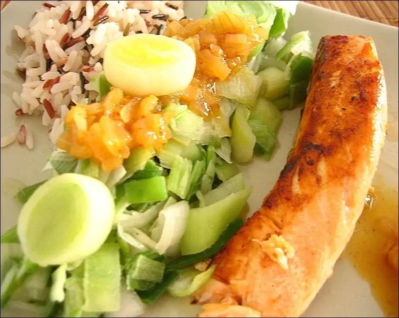 saumon poireaux healthy
