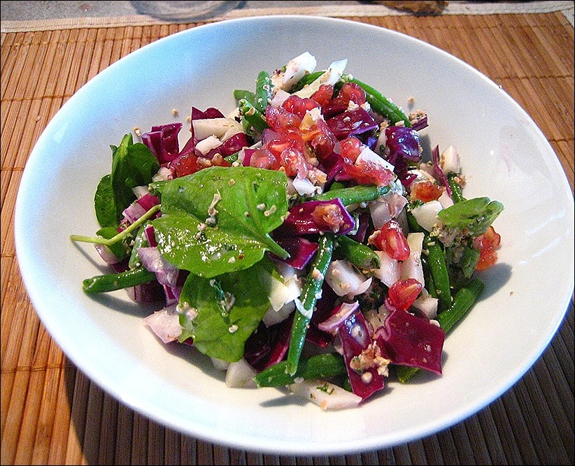 salade fenouil chou rouge