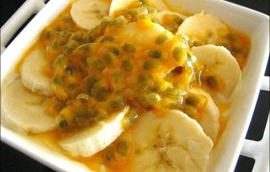 yaourts aux fruits de la passion et à la banane