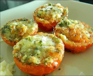 tomates mozzarella gratin
