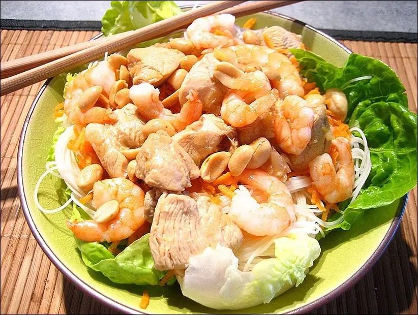 recette asiatique bo bun poulet