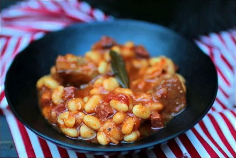 cocotte de porc au chorizo et haricots blancs