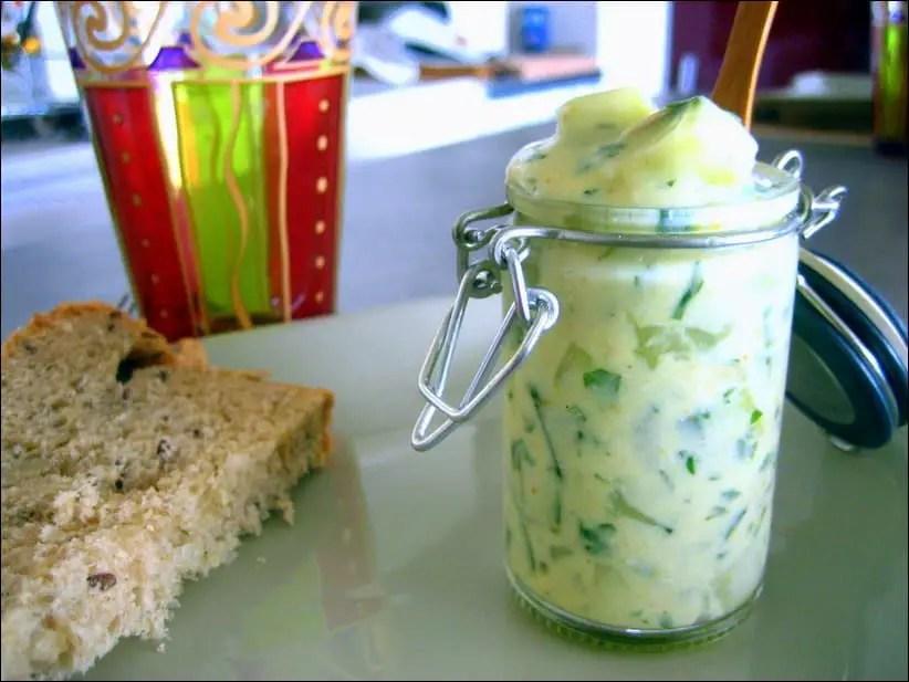 concombre au fromage blanc et à la coriandre