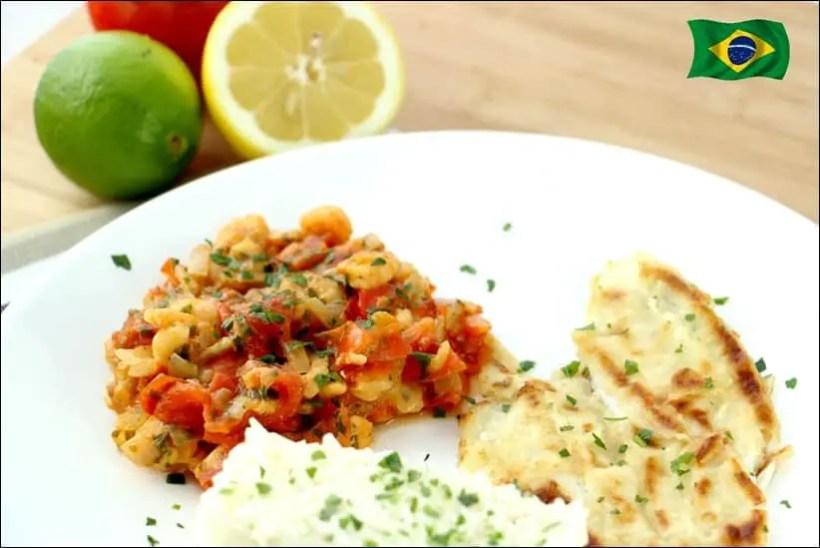 recette merlan crevettes