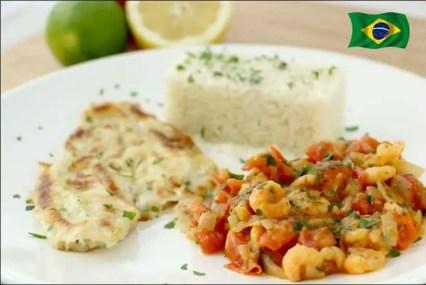 filet de merlan et sauce crevettes et tomates