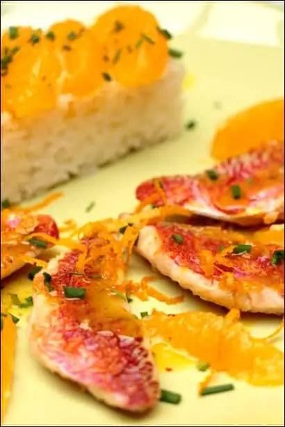 rouget sauce à l'orange