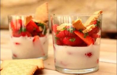 fraises à la crème de coco