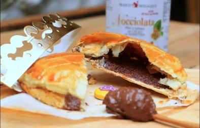 galette des rois à la crème d'amandes et pâte à tartiner chocolat noisettes