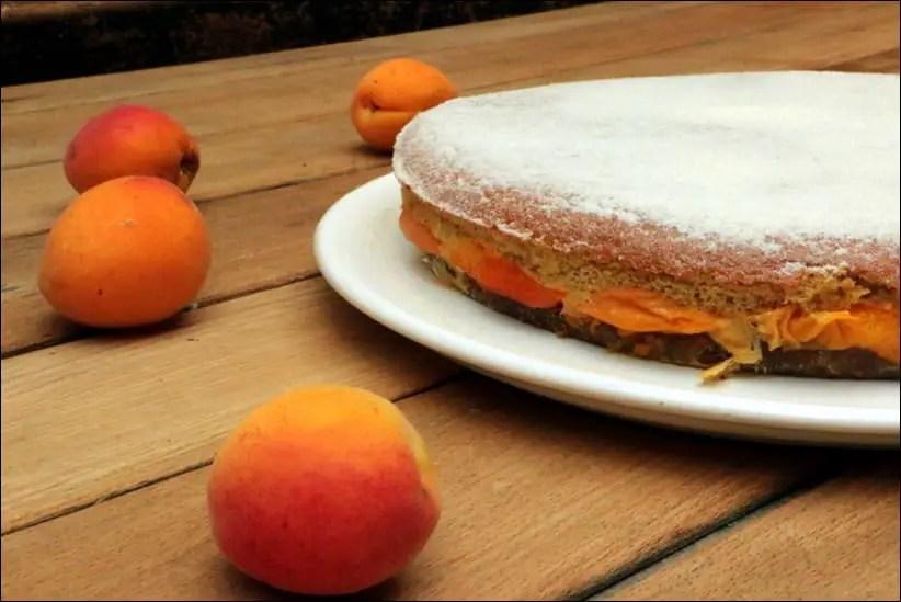 gateau abricot genoise