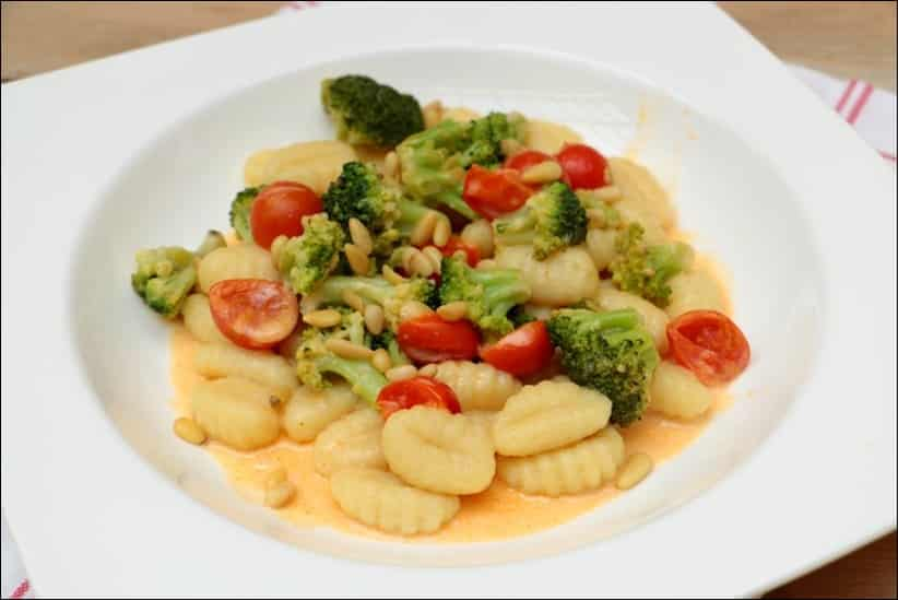 gnocchi brocolis parmesan