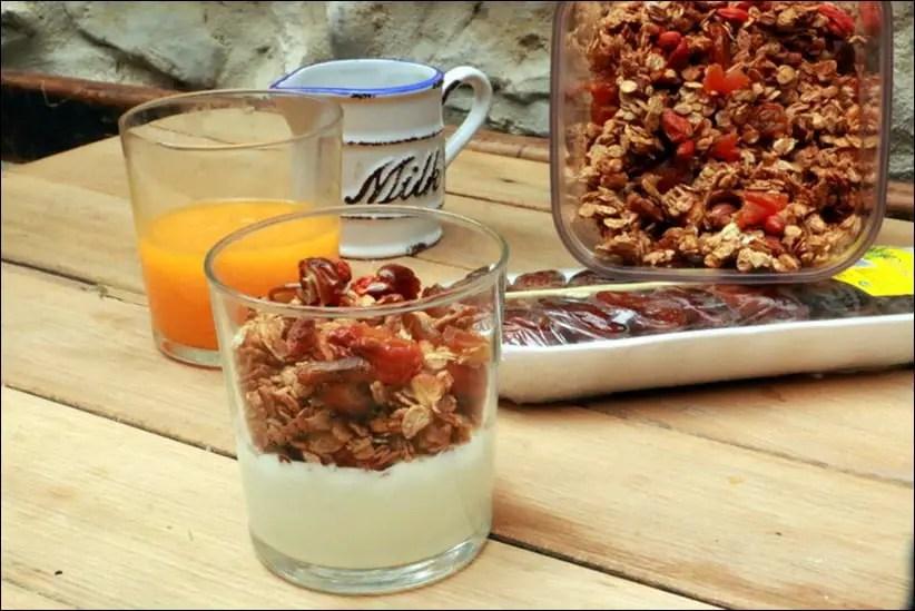 granola aux abricots et fruits secs