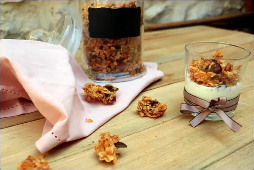 granola avec flocons de riz