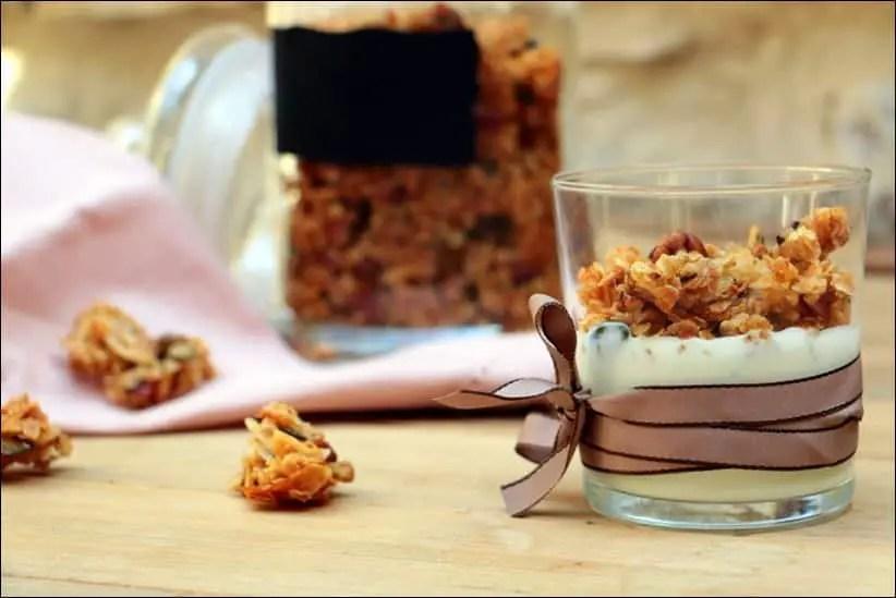 granola croustillant noisettes coco vanille