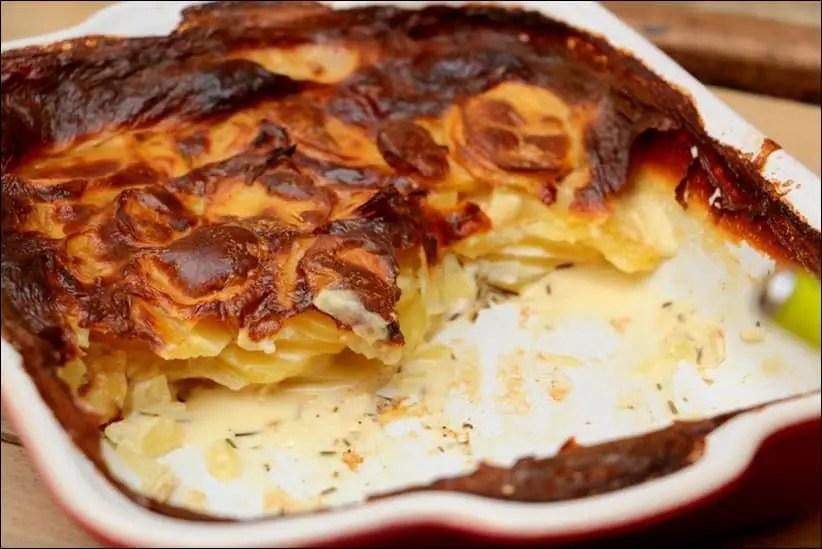 gratin pomme de terre oignon creme