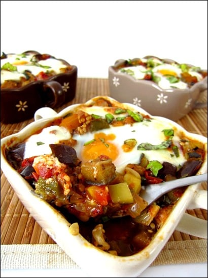 gratin aubergine chorizo