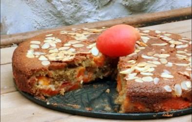 gateau moelleux aux abricots huile d'olive et amandes