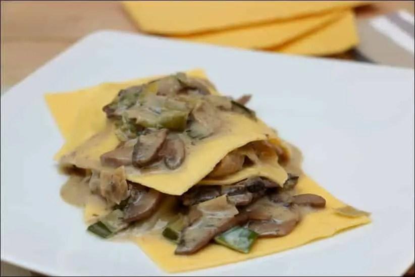 lasagnes aux champignons et poireaux de Gordon Ramsay