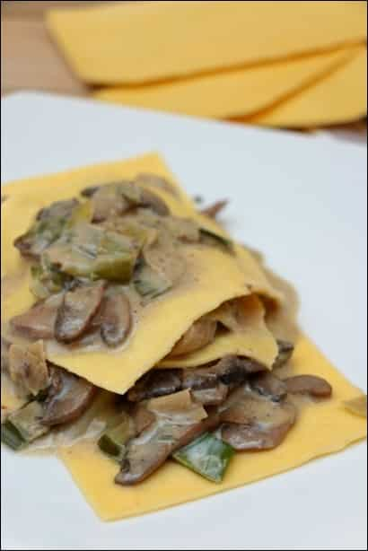 lasagnes poireau champignons