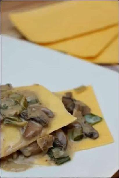 lasagnes poireaux champignons à la crème