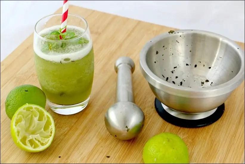 citronnade citron vert menthe