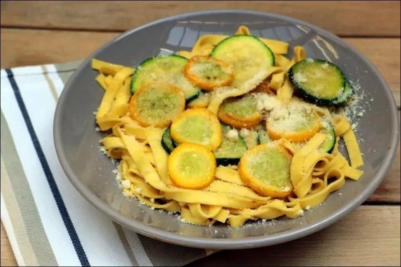 pates courgettes ail parmesan