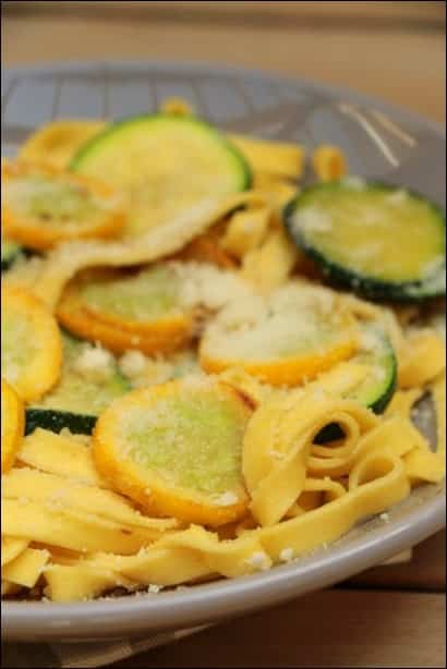 pates courgette ail