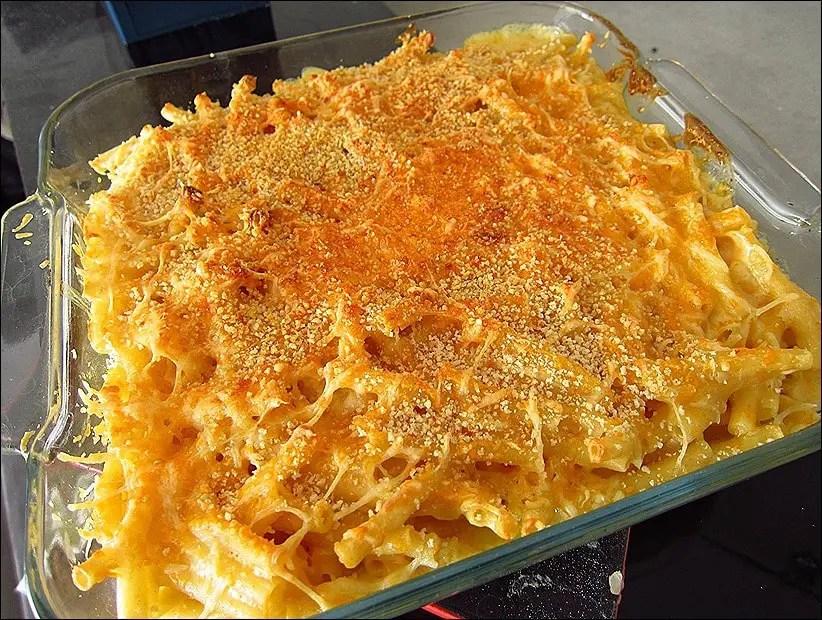 macaroni fromage avec chapelure