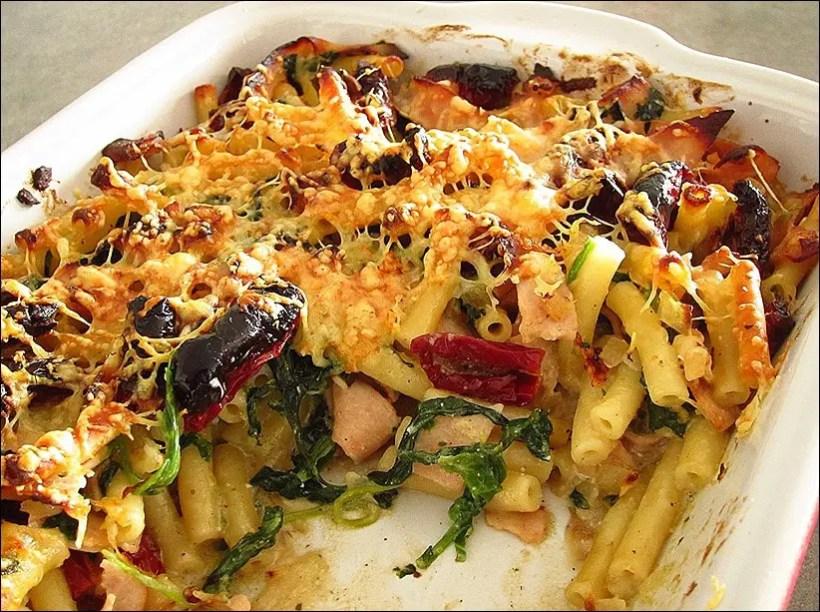 gratin macaroni epinards mascarpone