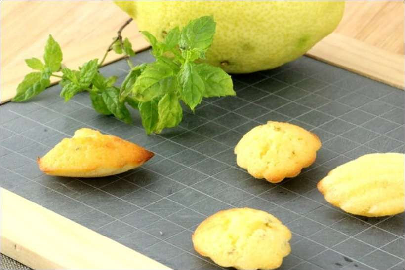 madeleines citron menthe