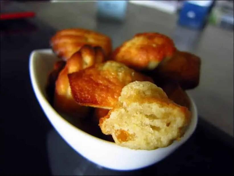 madeleines à la pomme et à l'orange confite de Sophie Dudemaine