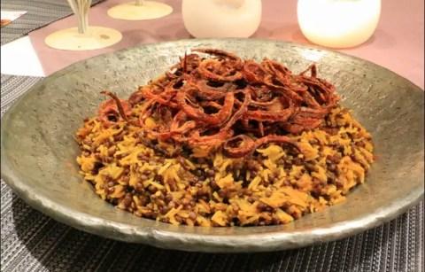 mejadra riz lentilles oignons