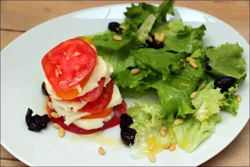 tomate mozzarella revisitée