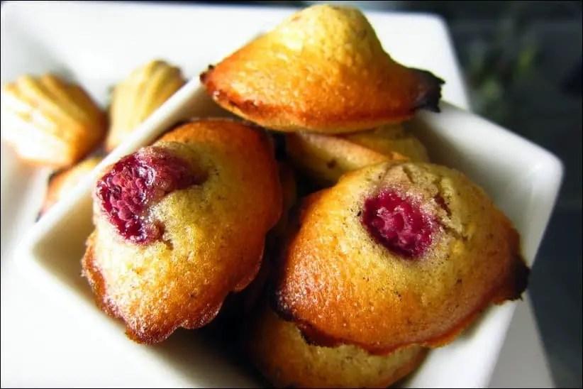madeleine framboise recette