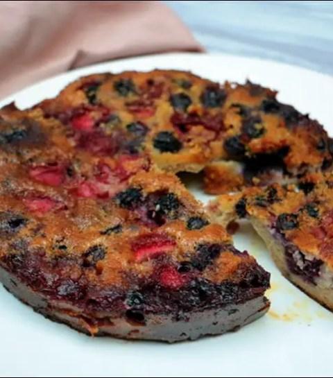 moelleux aux amandes et fruits rouges