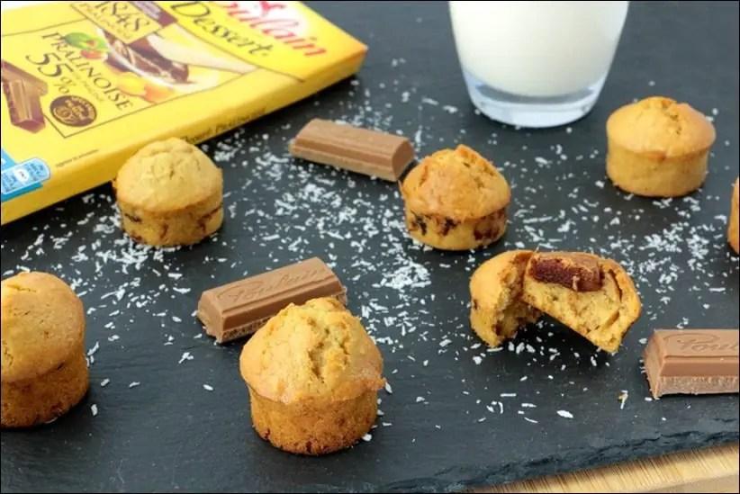 muffins noix coco praliné