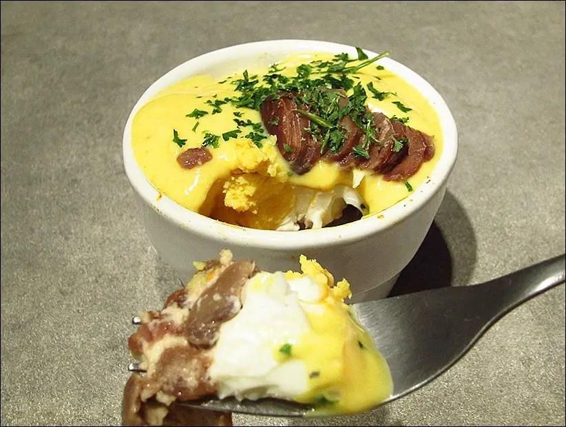oeuf cocotte champignon marron